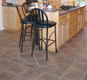 Tile floor with unique pattern