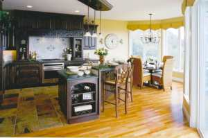 Traditional kitchen design for a Street of Dreams home