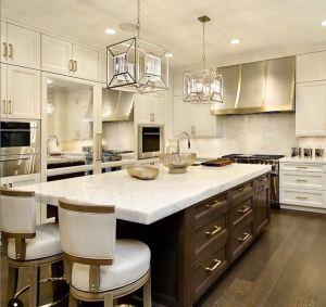 kitchen incorporating mixed metals