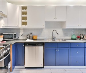 blue and white cabinets updates your kitchen designs