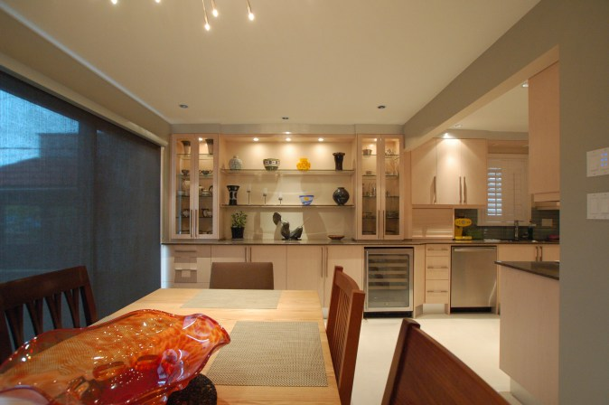 custom cabinetry in dining room