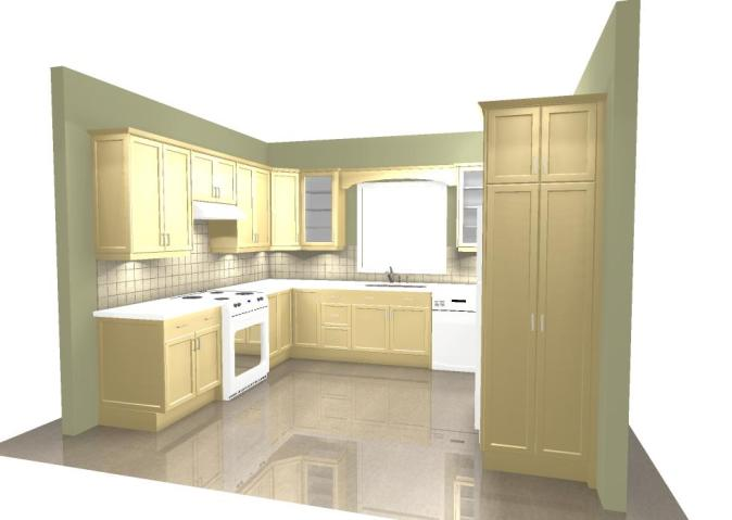 Yellow Kitchen Perspective