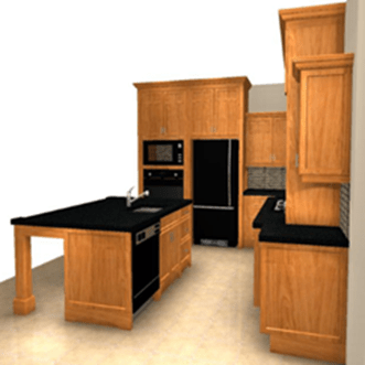 Cherry craftsman style kitchen