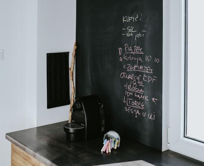 backsplash area in chalkboard