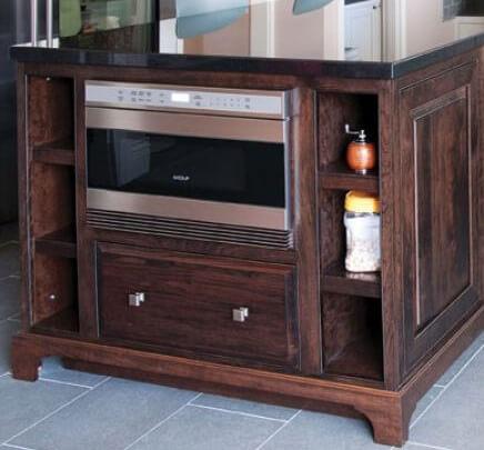 Island microwave drawer