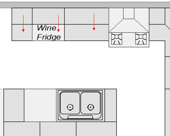 Lining up upper cabinets with base cabinets mistake