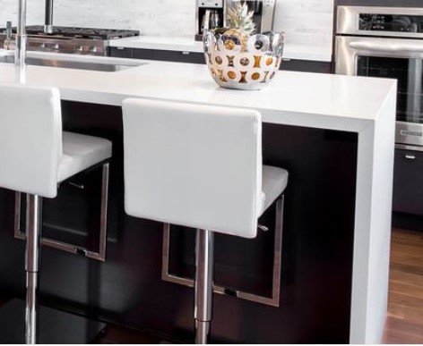 waterfall counter end supports dining bar