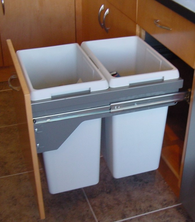 pullout double recycle bin