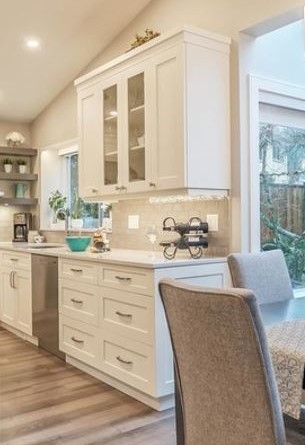 Serving Zone with glass doors beside dishwasher