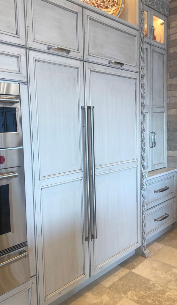 Paneled fridge and freezer