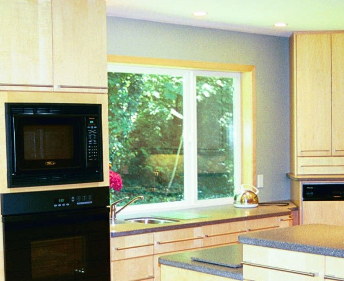 large window to countertop