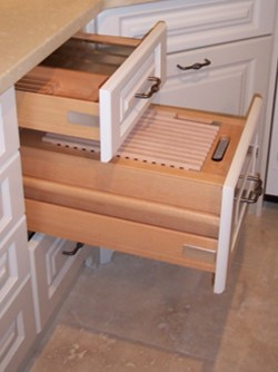 cutting board and bread drawer