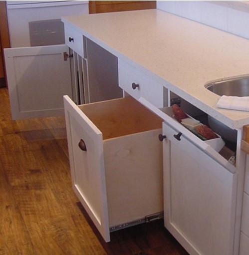 Open under space on kitchen island