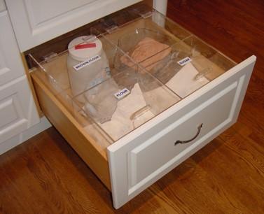custom bins for dry goods