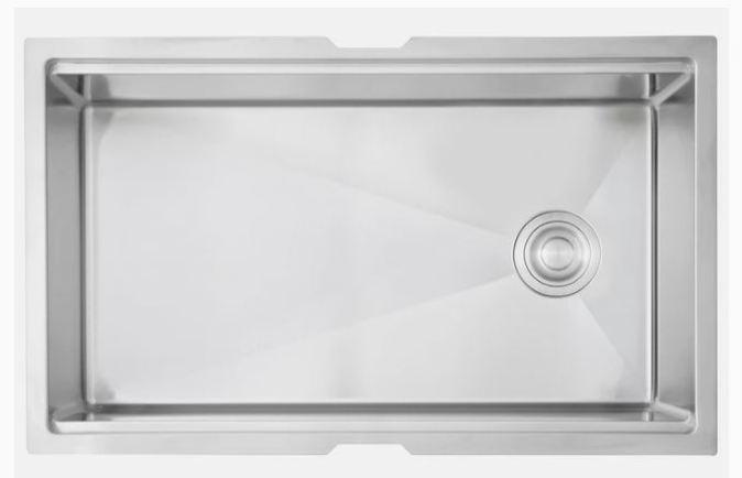 side drain on large single sink