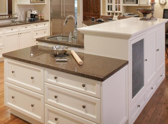 white kitchen with bake cener