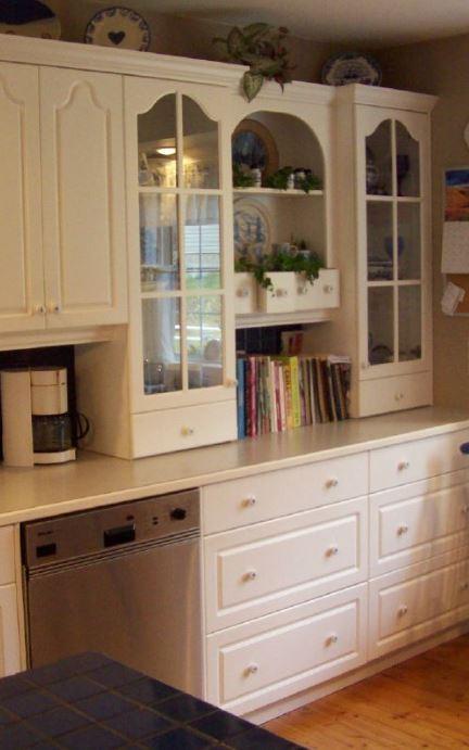 white kitchen hutch