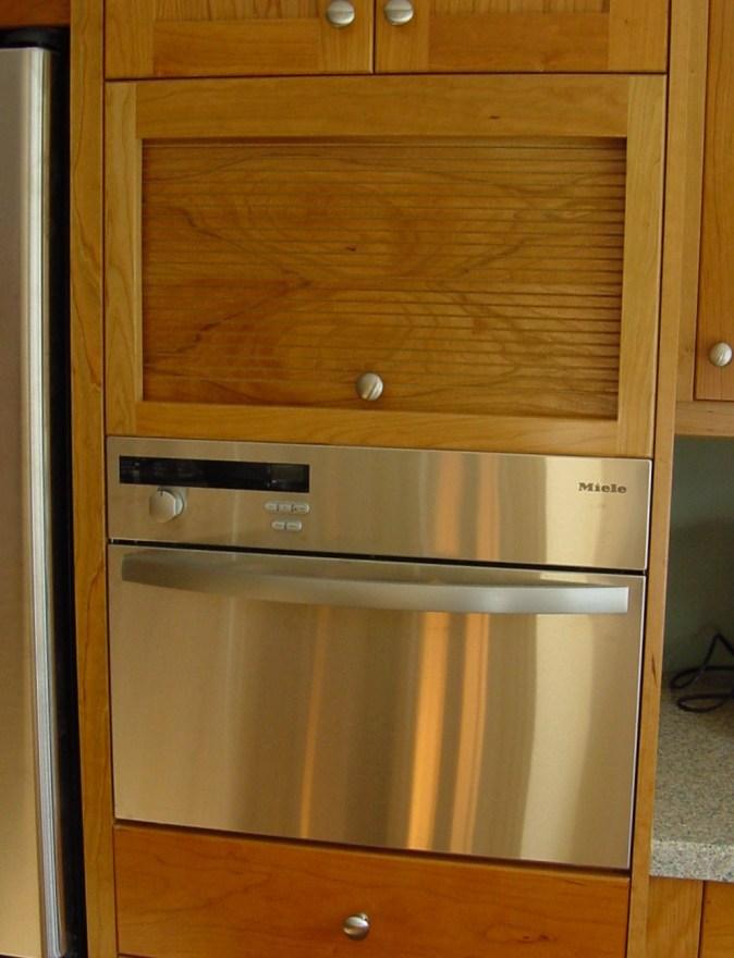 cherry kitchen with tambour door