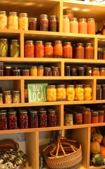 Solid wood canning shelves