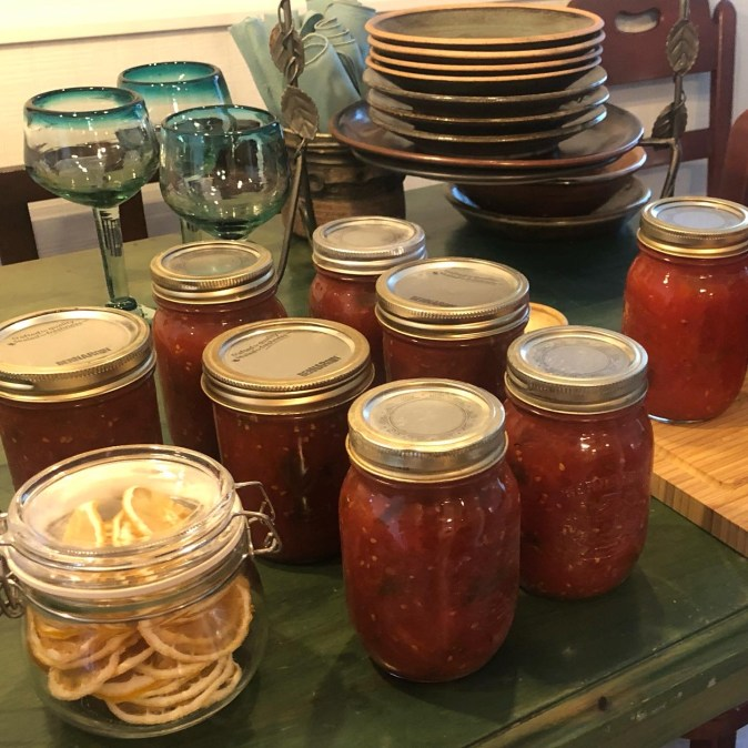 Tomato sauces home canned