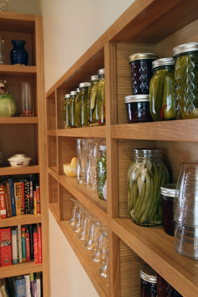 solid wood shelves for canning
