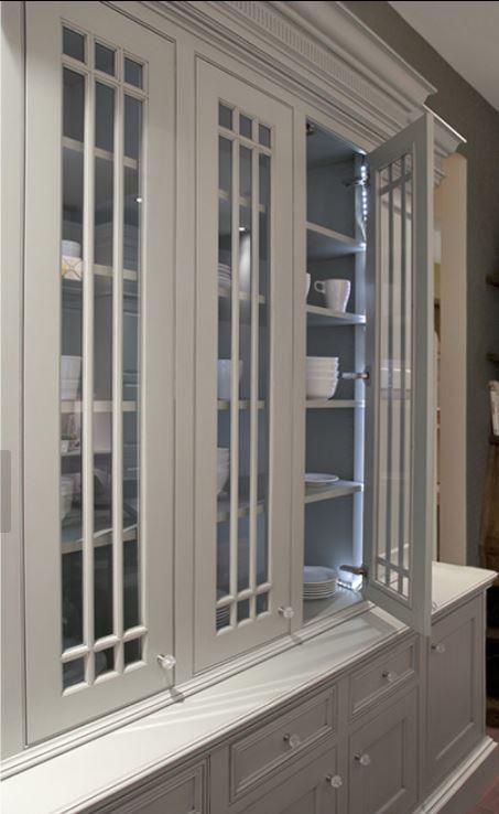 glass door hutch cabinet
