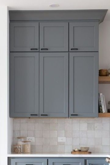 solid door stacked wall cabinets