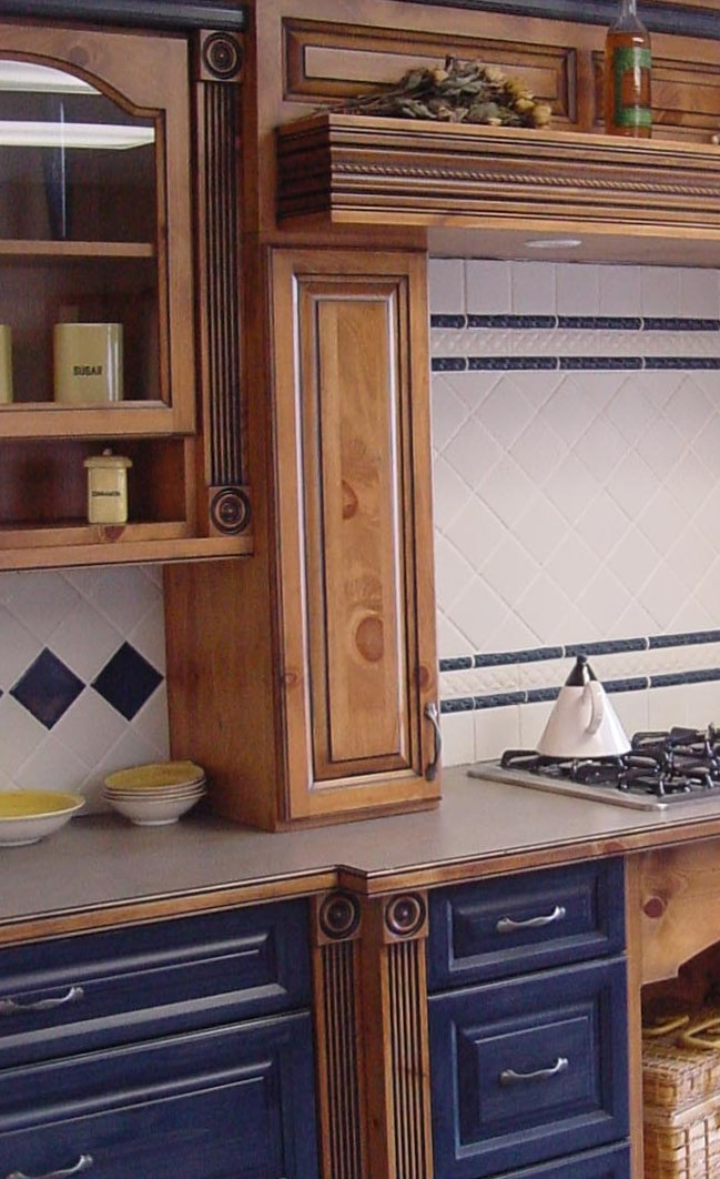 hearth in country kitchen