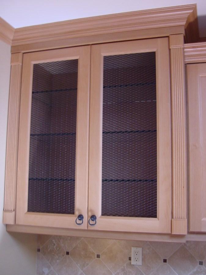 Cabinet door with mesh insert