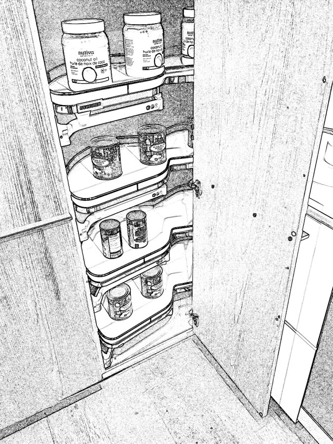 Blind tall cabinet accessory