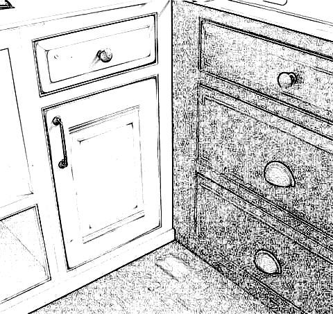 Framed cabinet blind corner base