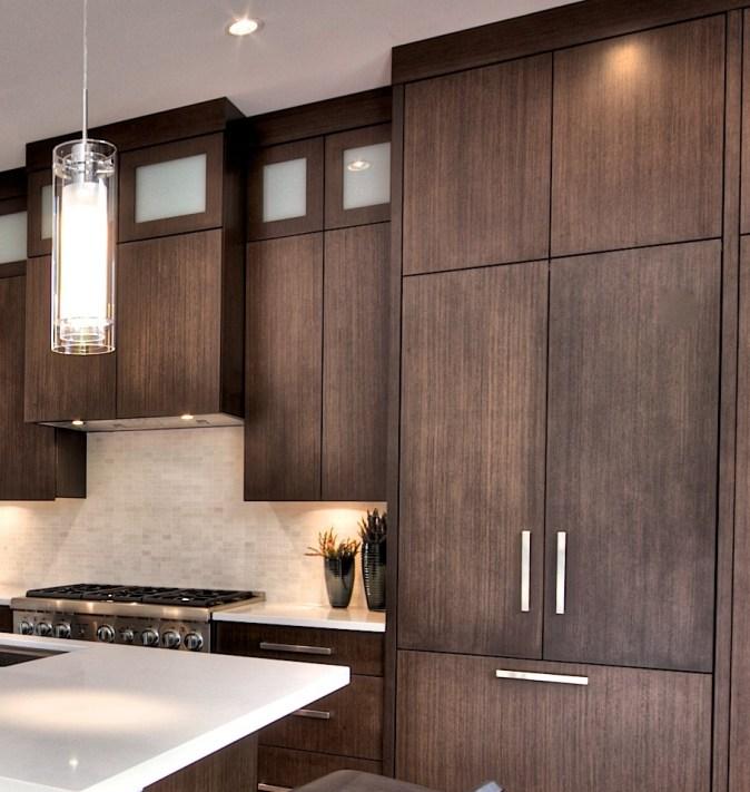 modern stained kitchen