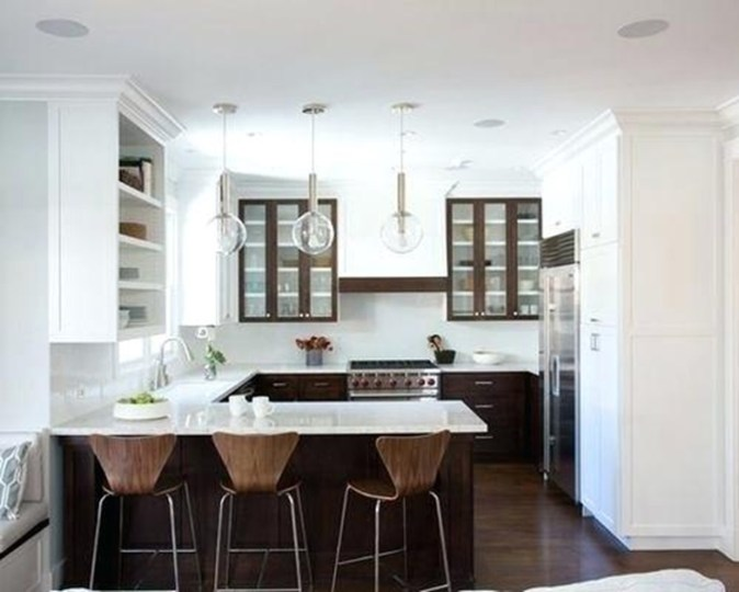 Kitchen design as a G-shape