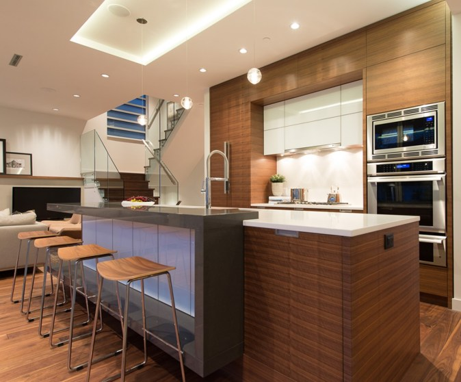 One wall with island kitchen layout