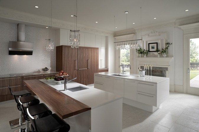 Kitchen layout with two islands