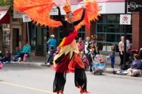 Fire Spirit stilt costume