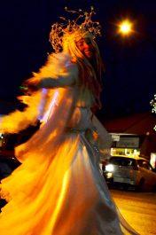 illuminated Angel Stilt costume