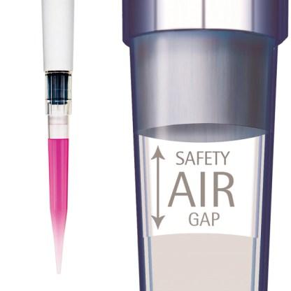 SafetySpace - Наконечники 120 мкл для дозаторов Sartorius BIOHIT с фильтром Low Retention SafetySpace, 51 мм, стерильные, в штативе 10х96 шт.
