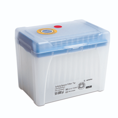 1000mkl LH LF791001 e1589739495688 - Наконечники 1000 мкл для дозаторов Sartorius BIOHIT с фильтром Low Retention SafetySpace, 78 мм, стерильные, в штативе 10х96 шт.