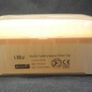 300mkl 790301F e1589730513170 - Наконечники 300 мкл для дозаторов Sartorius BIOHIT с фильтром Low Retention SafetySpace, 52.5 мм, стерильные, в штативе 10х96 шт.