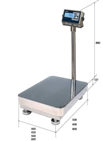 PM1HWS 3 - Влагозащищённые платформенные весы MAS PM1HWS-100-4050