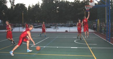 Площадка для занятия баскетболом
