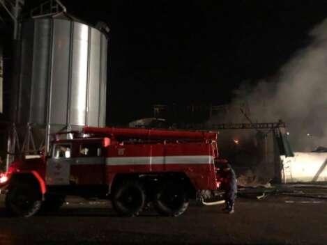 Пожар на Прикарпатье: сгорели сотни тонн зерна