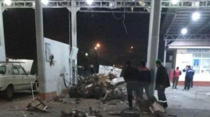 «Жигули» в Ташкенте разметало взрывом