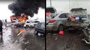 15 человек пострадали в ДТП на трассе Чимкент-Сарыагач