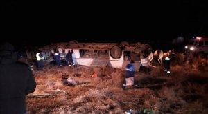 Автобус перевернулся в Казахстане, семеро погибших