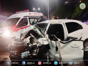 Водители Nexia-3 и Matiz погибли в лобовом столкновении в Ташкенте