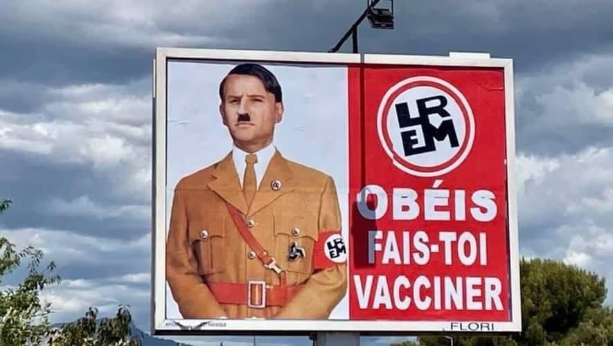 Макрон обиделся: его изобразили Гитлером