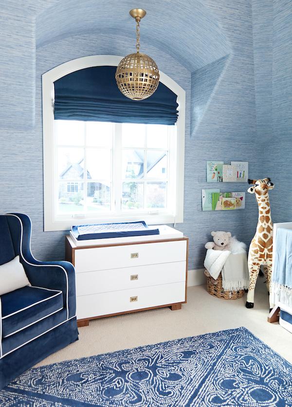 quarto de bebe todo azul