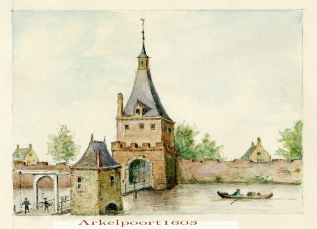 Arkelpoort 1603 aquarel